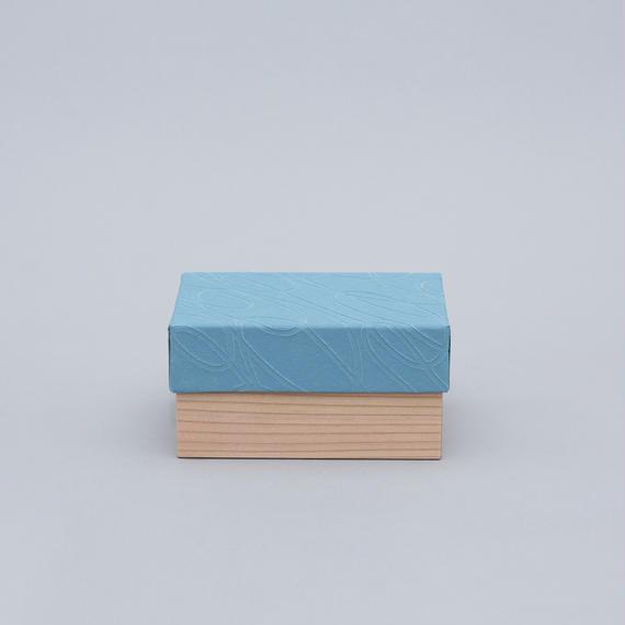 和紙箱・curve(淡青)