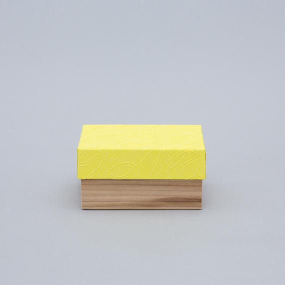 和紙箱・curve(薄黄)