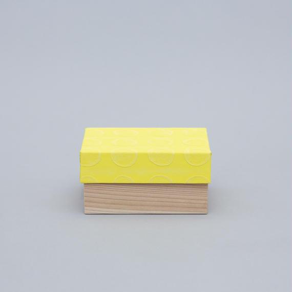 和紙箱・dot(薄黄)