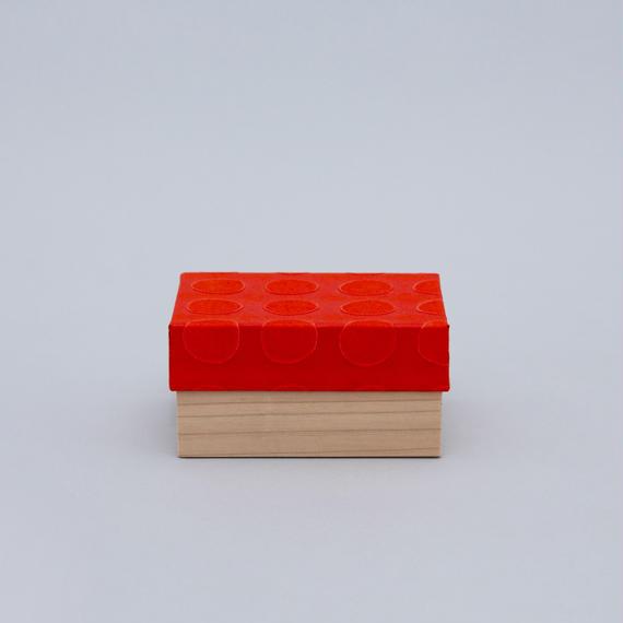 和紙箱・dot(赤)
