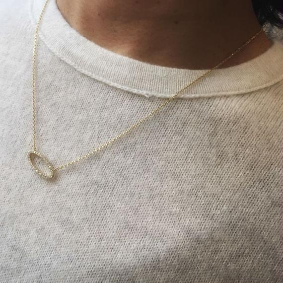MaisondeHilo シンプル・オーバル・ネックレス