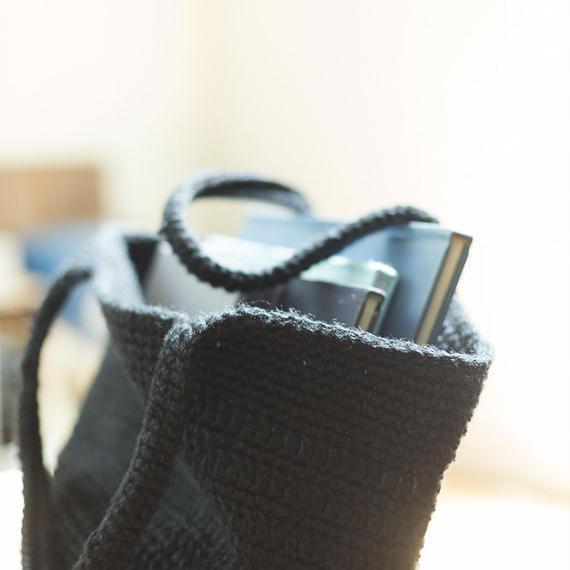 大きなタイプの麻バッグ ブラック