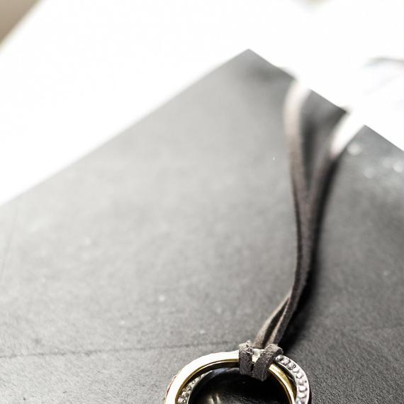 ダブルカラー・フルラウンドネックレス付け替え用革紐(合皮)