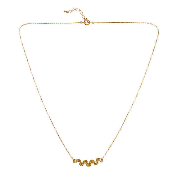 SHAFCA SMALL LINE DIA NECKLACE [K14YG]