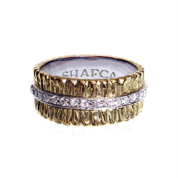 SHAFCA WIDE HALF ETERNITY RING