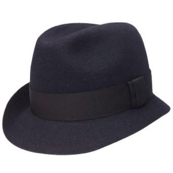 11403-ASYMMETRY HAT  BLACK  58cm