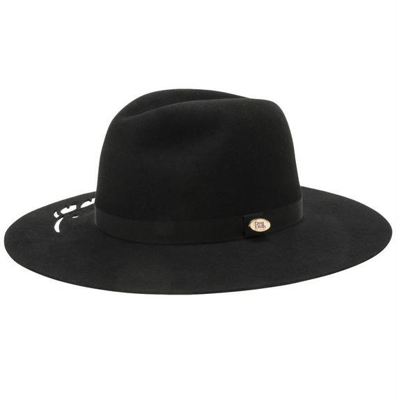 17309 ( FEATHER HAT)  BLACK 58cm