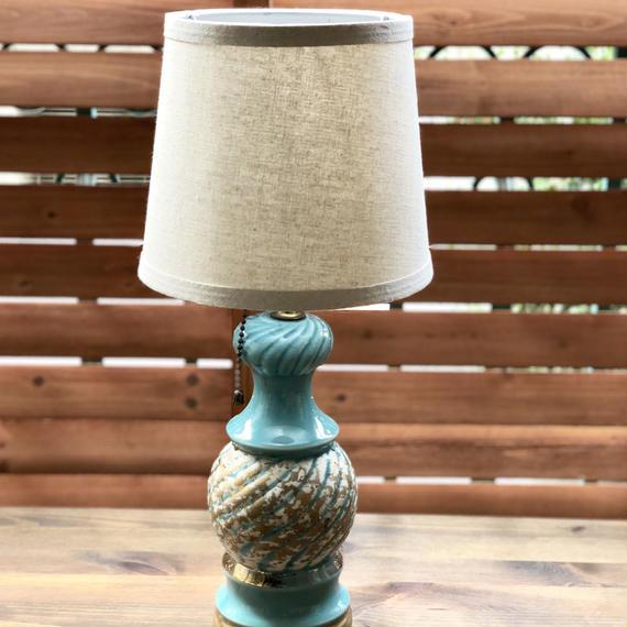 ビンテージ 50's 陶器テーブルランプ