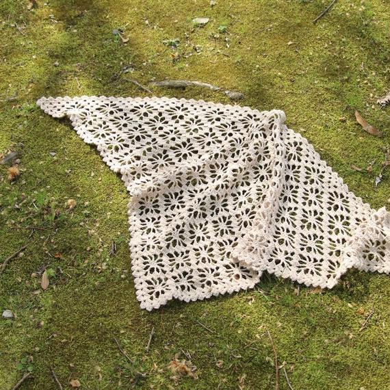 【終了】ワークショップ@東京・fukuya (7月)「リネンの糸で編む三角ショール」お申し込み