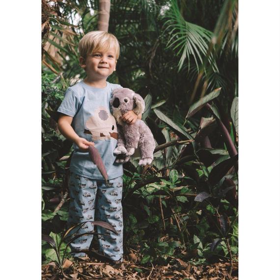 子供用 パジャマ 上下セット コアラ柄 ブルー 100%オーガニックコットン GOTS認定品