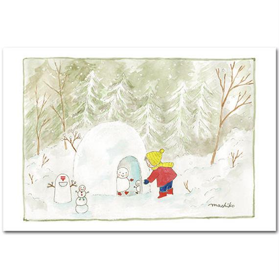 ポストカード・飯豊の空の下から・・・  「雪のおはなし」