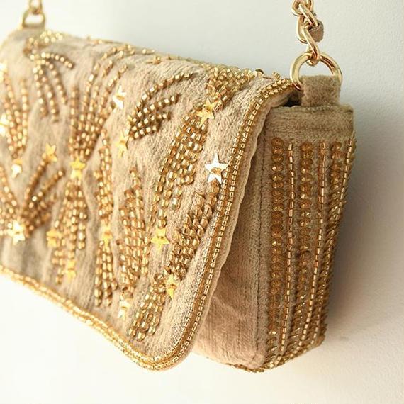 Shoulder Bag-Gold / SARA MALLIKA