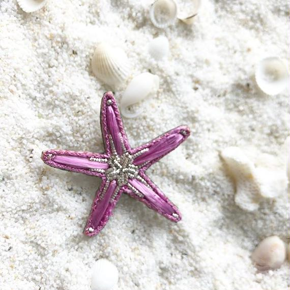 Raffia Starfish Brooch / little Sophia203