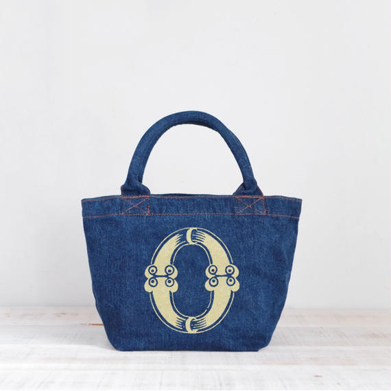 Organic Denim Tote O/ Ginger Beach Inn Original