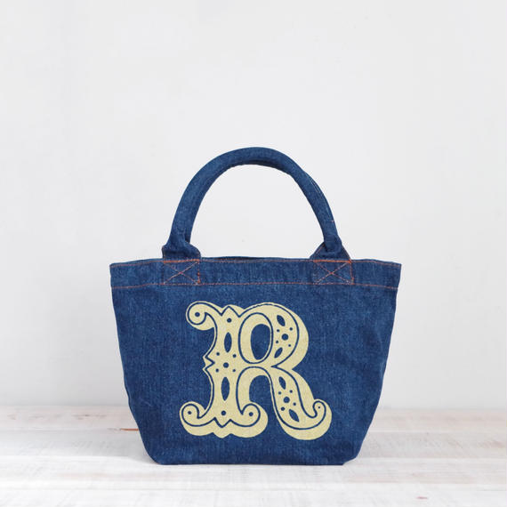 Organic Denim Tote R / Ginger Beach Inn Original