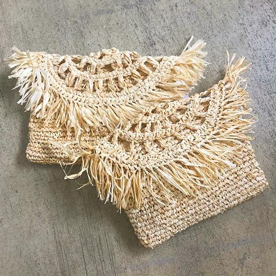 Raffia Clutch Bag / STORY OF TOMORROW