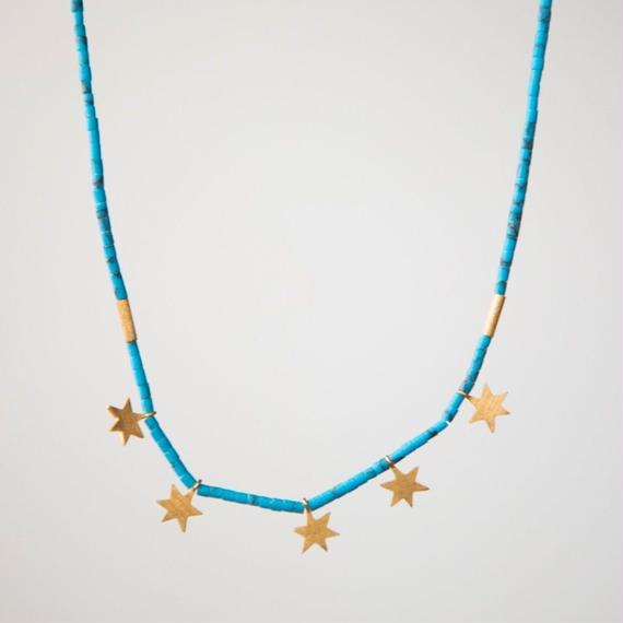 Astra Necklace Turquiose Gold/ Temple of the Sun