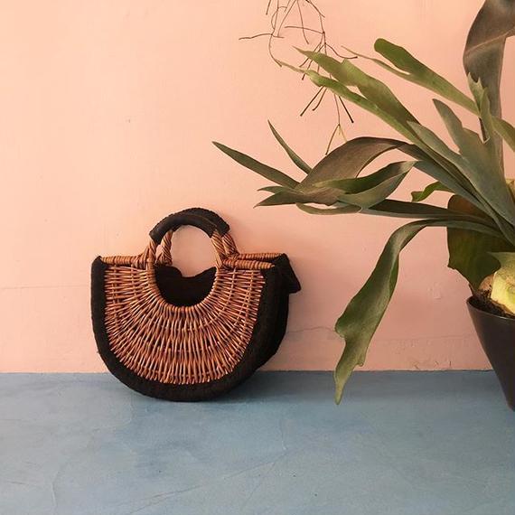 Willow Half  Moon Basket