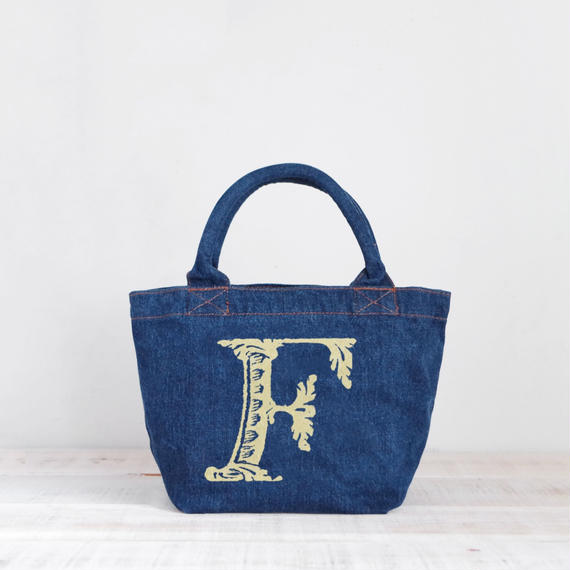 Organic Denim Tote F / Ginger Beach Inn Original