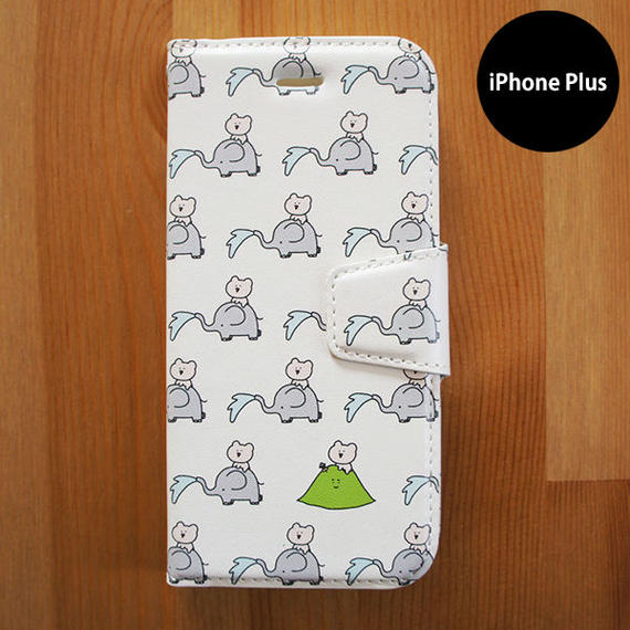手帳型iPhoneケース「ぱおぱお」Plus用