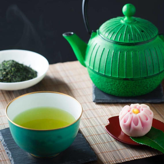 庵 山の玉蒸し緑茶