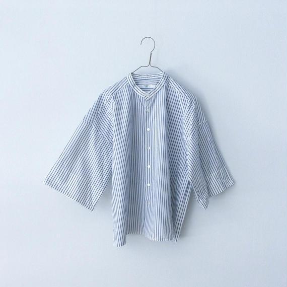 UNIVERSAL SEVEN ストライプバンドカラーシャツ