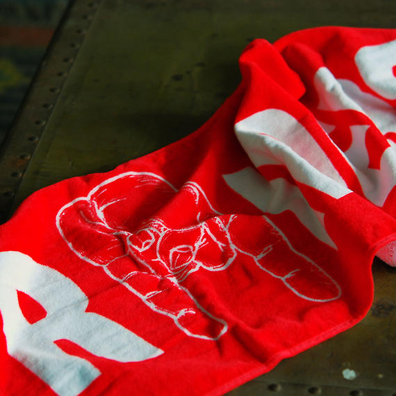 RAIDERS CORNA TOWEL(RED)