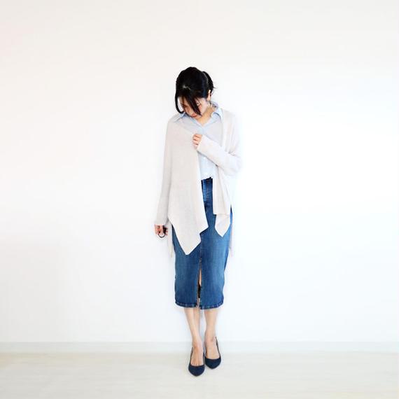 ◆即納◆Kapteyn[カプタイン] オールカバー袖付きストール2 / アイシー・グレー