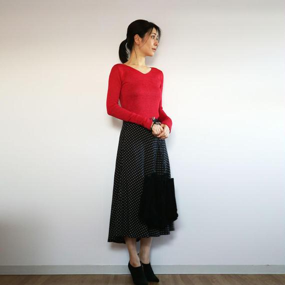 ◆即納◆Kruger[クリューガー] Vネック・セーター / クリア・レッド / Sサイズ