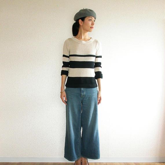 ◆即納◆Crux[クルックス] ラウンドネック・セーター / ベージュ系1 / Mサイズ