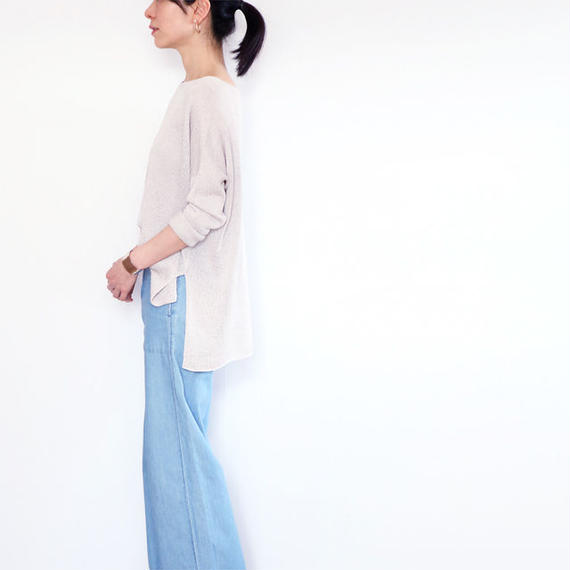 ◆即納◆Ursa[ウルサ] ボクシー・セーター8 / アイシー・グレー / Mサイズ