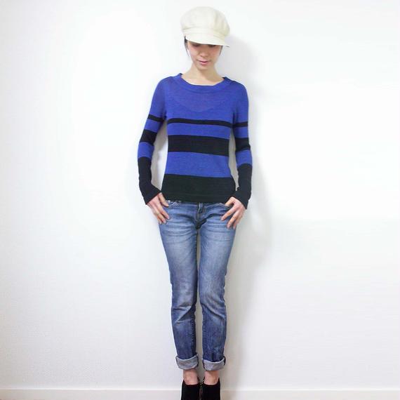 Crux[クルックス] ラウンドネック・セーター / ブルー系1