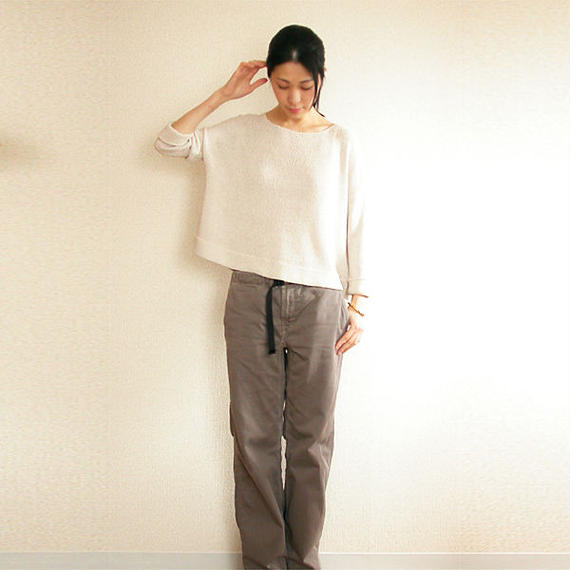 ◆即納◆Aries[アリエス] ボクシー・セーター1 / ビーチサンド・ベージュ / Mサイズ