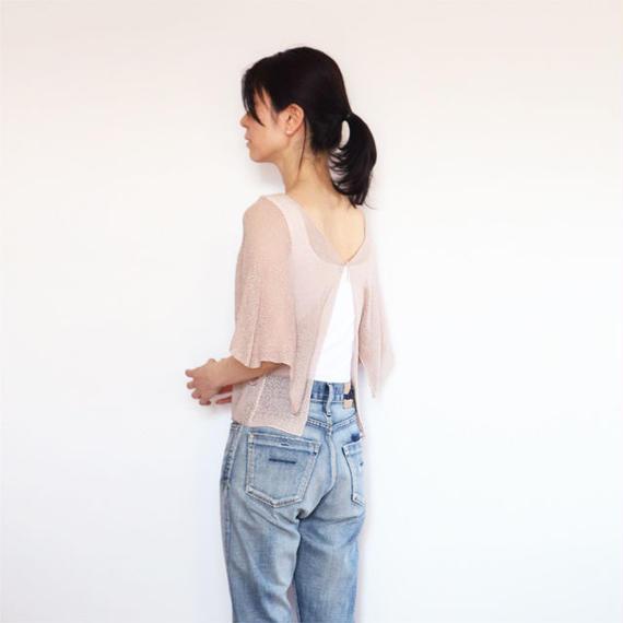 ◆ラスト1点◆即納◆Lyra[リラ] カーディガン・トップス / ピンク・ベージュ / Mサイズ