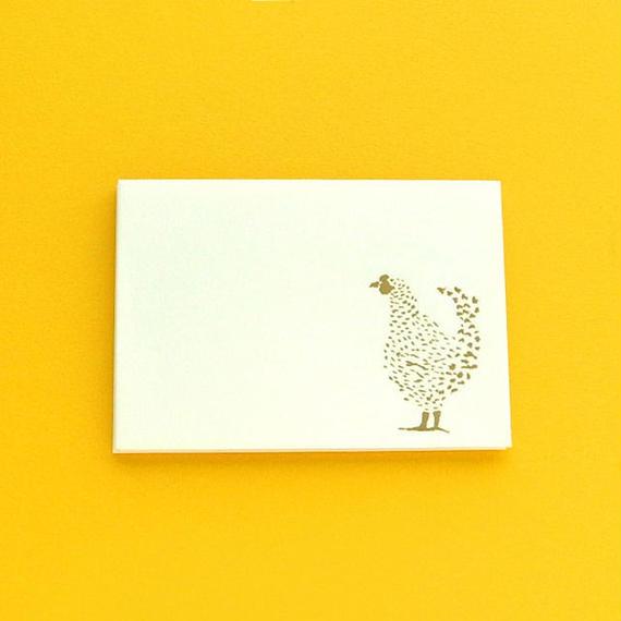 ミニ封筒セット/ニワトリ