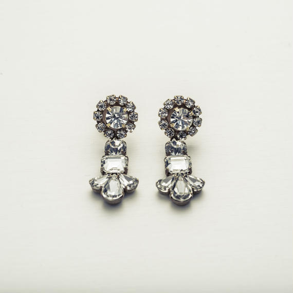 New flower twin earing