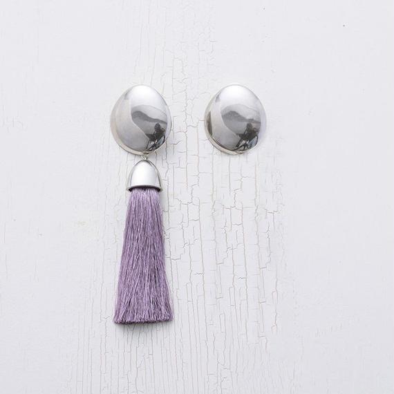 Tassel earing (asymmetry / Purple)
