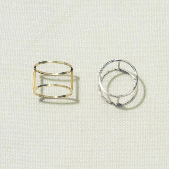 「Dresden」 2連 立体 ring / Gold / #12