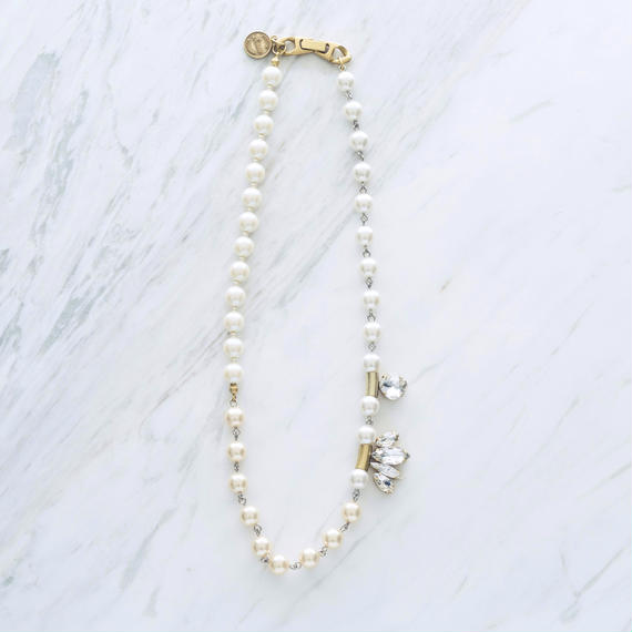 New shell simple pearl necklace