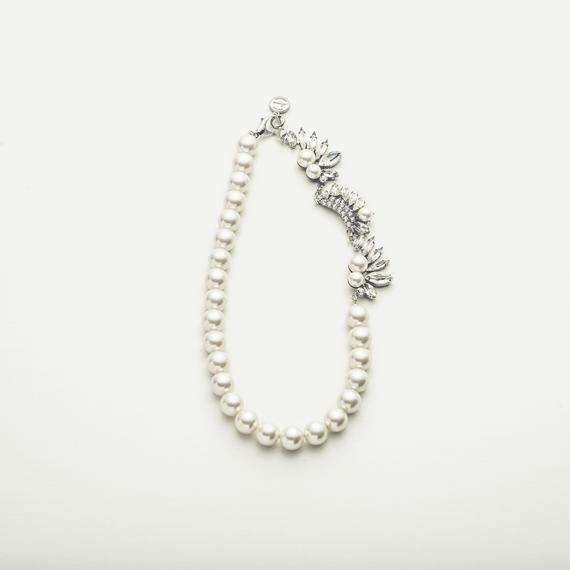 Drop bijou pearl necklace