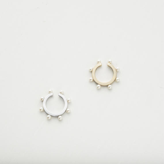 Round ear cuff (Pearl / 1P)