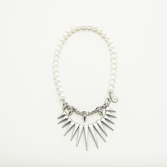 Shape pearl necklace (2way)