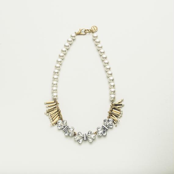 Fringe bijou necklace