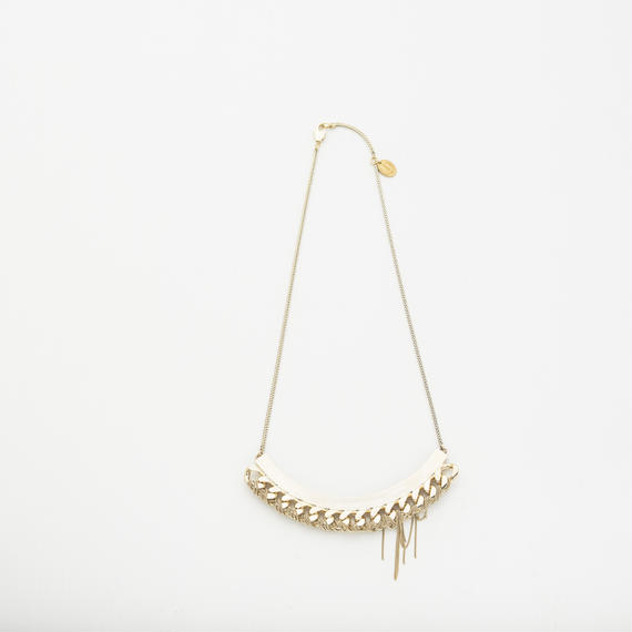 Wire couture necklace (Gold)
