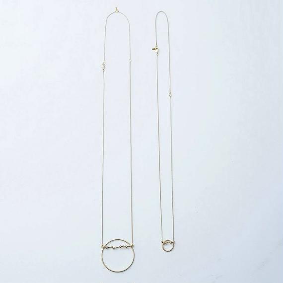 Constellation hoop necklace (2P set)