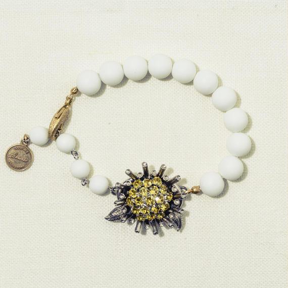 Sun flower white blacelet