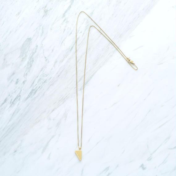 Graphic long necklace (Bijou)