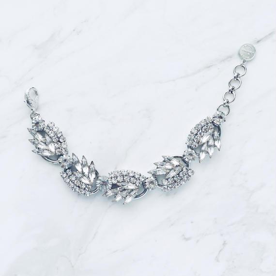 Silver pine  bracelet