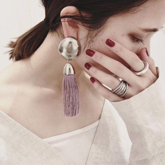 Tassel earing (asymmetry / Purple)