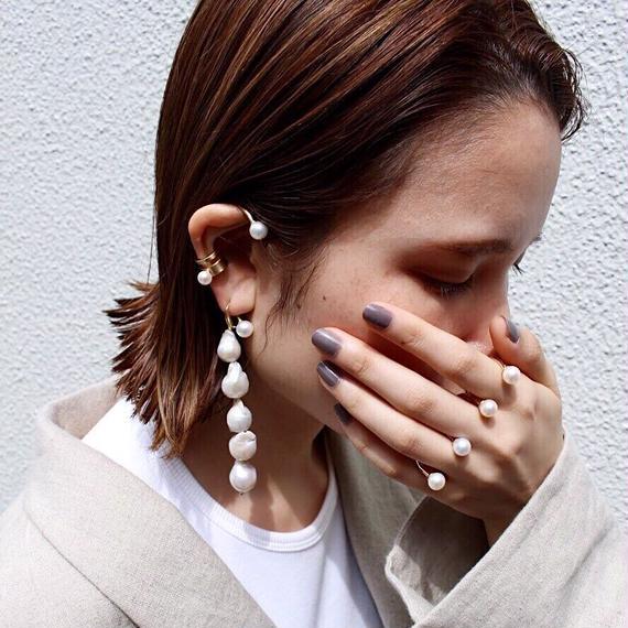 Unique pearl pierce